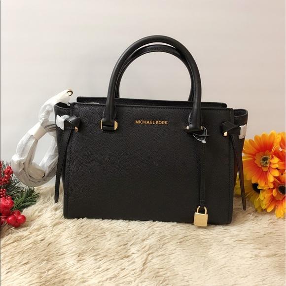 🌸NWT Michael Kors Cassie Medium Leather Satchel 94ba6108db546